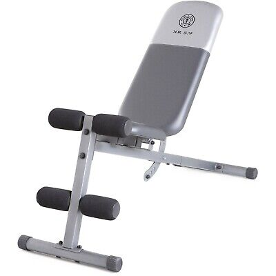 ADJUSTABLE WEIGHT BENCH Flat Incline Decline Exercise Strength Workout Training