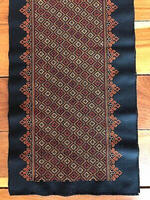"""Hand Stitched Eastern European Table Runner 56"""" x 12"""""""