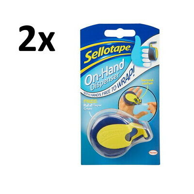 2 x Sellotape On Hand Dispenser AND Tape 15m