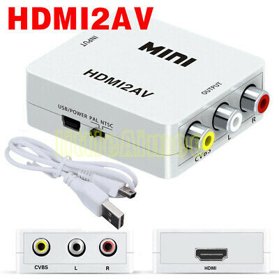 Composite HDMI To RCA 1080P Audio Video AV CVBS Adapter Converter For Wii NES