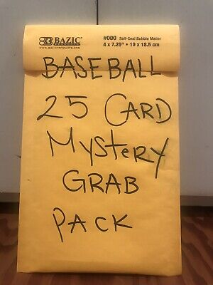 Baseball 25 Card Mystery Grab Pack, Good Cards! 👍🏻