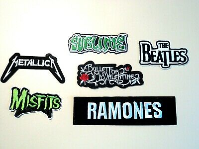 1x Rock Band Patches Embroidered Cloth Badge Applique Iron Sew On Metallica