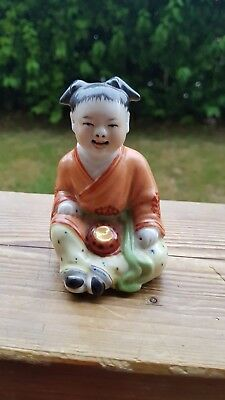 Small Chinese Child Porcelain Figurine