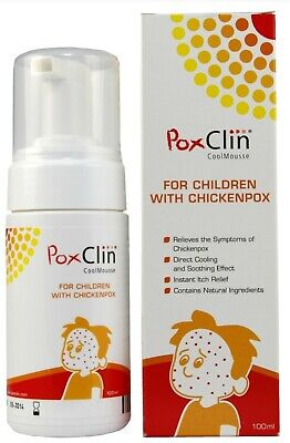 Poxclin Cool Mousse for Children with Chickenpox 100ml New & Free Delivery