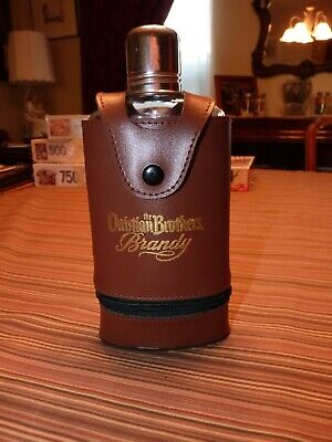 THE CHRISTIAN BROTHERS BRANDY Bourbon Whisky FLASK and SHOT GLASS Promo