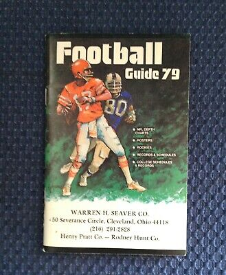 Football Guide 79 Nfl & College, Snibbe Pub. 1979, Depth Charts, Rosters, Rookie