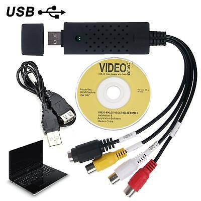 USB VHS To DVD  Audio Video Converter Capture Full Scart Kit With Leads & Cable