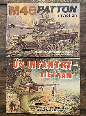 Squadron Signal Books 2022 M48 Patton In Action & 3006 US Infantry Vietnam