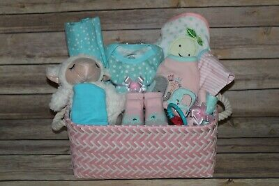 Beautiful Baby Girl Pink Gift Basket, Perfect for Shower or Newborn Gift!