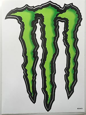 """(2) Large Monster Energy Sticker / Decal 8.5"""" by 6"""" **FREE 3""""x4"""" Sticker**"""