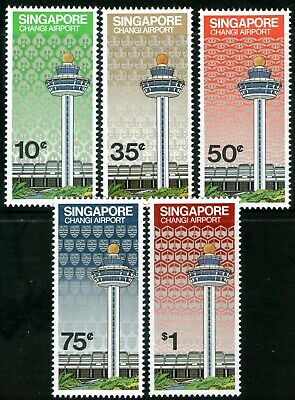 Singapore 1981 Opening of Changi Airport set of 5 Mint Unhinged