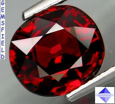 IF - 2.90cts !!! RHODOLITE de NAMIBIE !!! coussin rouge grenade !!! poli AAA++