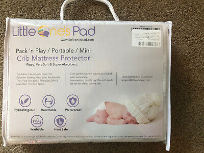 Little One's Pad for Pack 'n Play/Portable/Mini Fitted Crib Mattress Protector