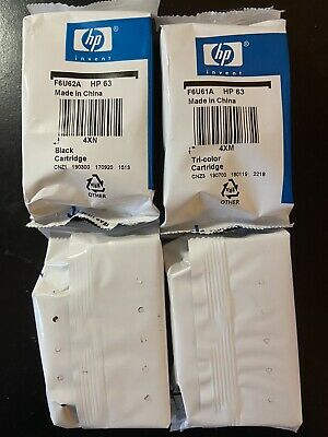 2 Combo Packs Of HP 63 Black & Color Ink Cartridges Genuine Free Shipping