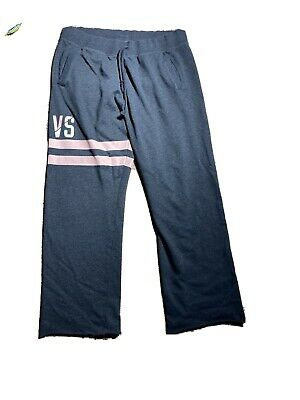 Vintage Victoria Secret Oversized Boyfriend Lounge Pants SZ LARGE VS GRAY