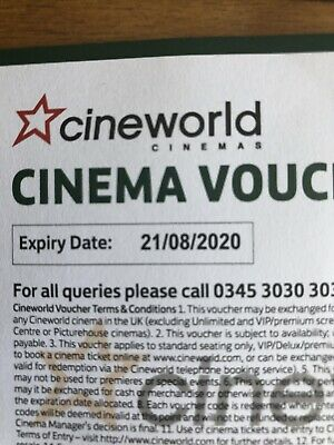 6 x Cineworld Tickets
