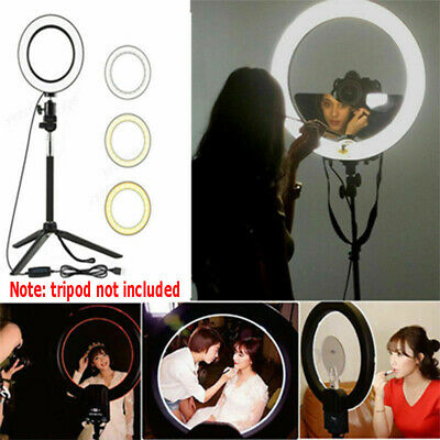 LED Ring Light Studio Photo Video Dimmable Lamp Selfie Camera Phone 16mm~
