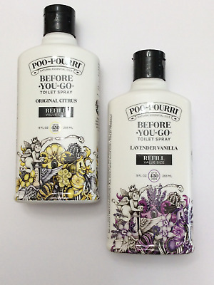 2X- POO POURRI BEFORE YOU GO TOILET SPRAY 9 Oz-REFILL VALUE SIZE- UP TO 900 USES