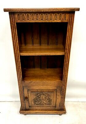 ~ Antique Style Carved Oak Table Top Bookcase Shelving : BRIGHTS OF NETTLEBED