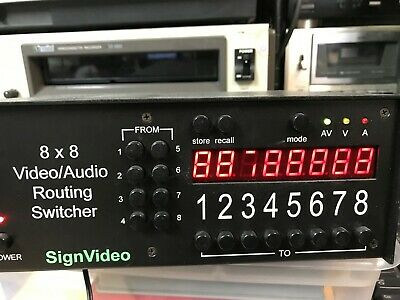 SignVideo Routing Switcher