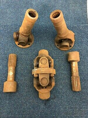 Set of Universal Joints, Used, Moves Freely, Telescopic, Spline Assembly