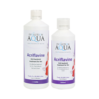 Evolution Aqua Acriflavine Anti Bacterial Ulcer Koi Medication Pond Treatment