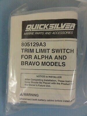 Quicksilver Trim Limit Switch for Alpha and Bravo models 805129A3