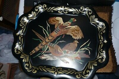 Hand Painted Pheasant Tray