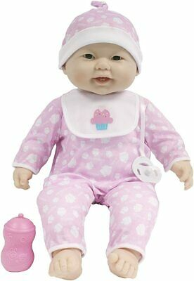 JC Toys Lots to Cuddle Babies' 20''  Pink Soft Body Asia Doll & Access Berenguer