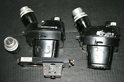 B&L Bausch Lomb Stereozoom 240 Microscope Head Parts/Repair Lot of 2 #1