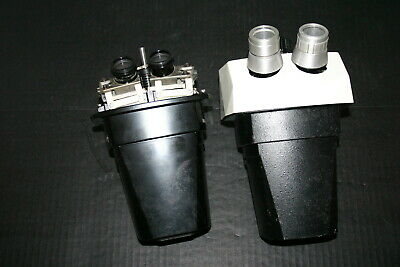 B&L Bausch Lomb Stereozoom 7 Microscope Head Parts/Repair Lot of 2 #1