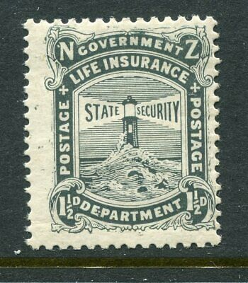 NEW ZEALAND....  1905 Life Insurance  1½d black   mnh