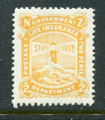 NEW ZEALAND....  1905 Life Insurance  2d yellow   mnh