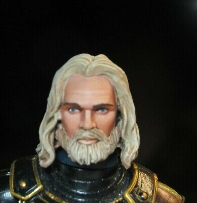 HEAD ONLY Mythic Legion Four Horsemen Custom Painted HEAD ONLY beard