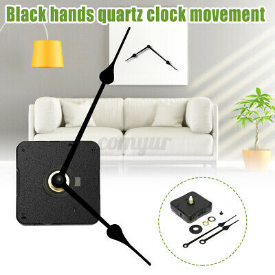 High Torque Clock Movement Long Spindle Black French Spade Hands