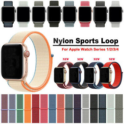 Nylon Woven Sport Loop Bracelet Watch Strap For Apple Watch Band series 5 4 3 21
