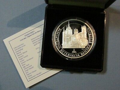 2016 Slovakia 20 Euro Banska Bystrica Silver Proof Coin Heritage Site Czech