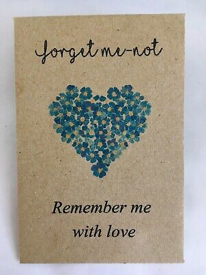 Funeral Favours Personalised Seed Packets Remembrance Forget Me Not
