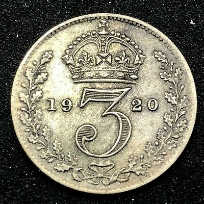 Great Britain. Silver 3 Pence, 1920 - George V - Km# 813