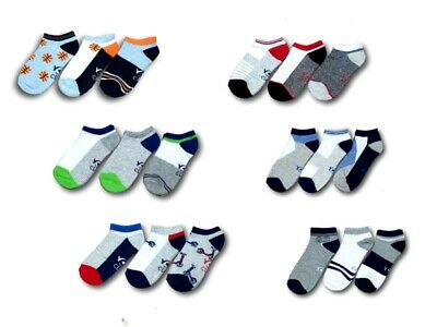 Boys Men Teen Children Kids Cotton Summer Ankle Trainer Socks Multi Buy 3 Pairs