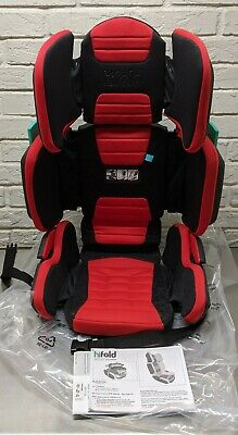 hifold fit-and-fold highback booster Seat, Racing Red – Adjustable Highback