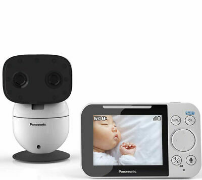 "Panasonic 3.5"" Long Range Video Baby Monitor with Night Vision and Zoom/Pan/Tilt"