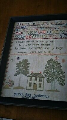 18th. Century Sampler by Susan  Ann Anderson--c.1790