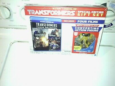 transformers  bumblebee  toy with 4 movie collection on blu-ray  special edition