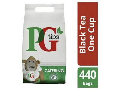 PG Tips 440 One Cup Catering Tea Bags, Pyramid shape tea bag, Free P&P!
