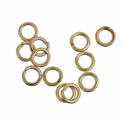 Findings - 4mm - 14k Gold Plated Opened Jump Rings - 100Pcs