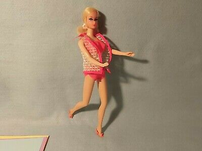 Talking barbie doll With Original Orange Outfit Matel Mod Era W/Pull String