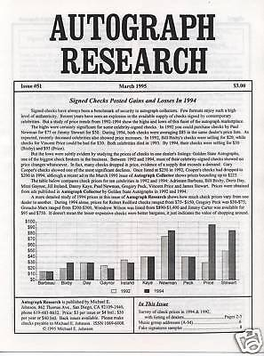 Autograph Research rare archive all 84 issues 1991-1997 underground newsletter
