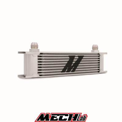 RADIATORE OLIO 10 file MISHIMOTO oil cooler universale AN10 10-AN JIC MMOC-10