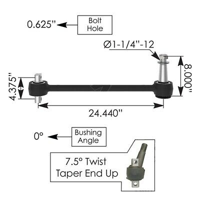Torque Rod w/ bushings and blank included part #1614149003 part #TMR548